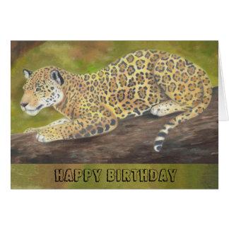 Jaguar-Geburtstagskarte Karte