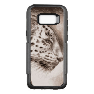 Jaguar in der warmen Sepia-Kunst OtterBox Commuter Samsung Galaxy S8+ Hülle