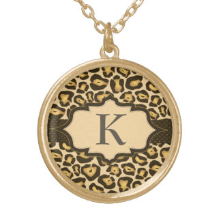Jaguar-Monogramm-Band-Halskette Vergoldete Kette