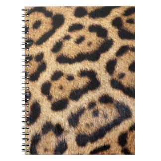 Jaguar-Pelz-Foto-Druck Spiral Notizblock