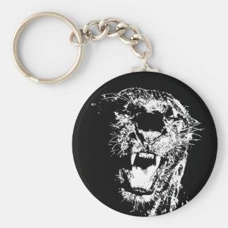 Jaguar - schwarzer Panther Schlüsselanhänger
