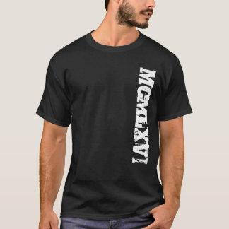 Jahr 1966 in der römische Ziffern-Schmutz-Art T-Shirt