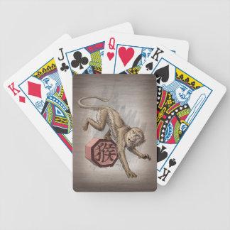 Jahr der Affe-chinesischen Tierkreis-Kunst Bicycle Spielkarten
