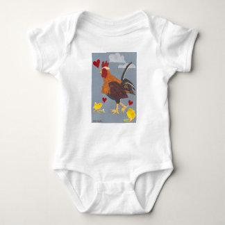 Jahr der Hahn-Baby-Ausstattung 2017 Baby Strampler