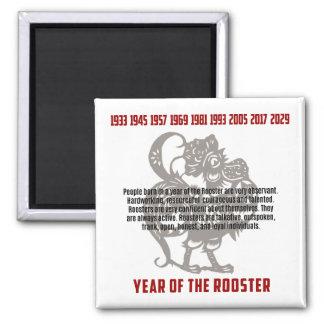 Jahr der Hahn-Merkmale Quadratischer Magnet