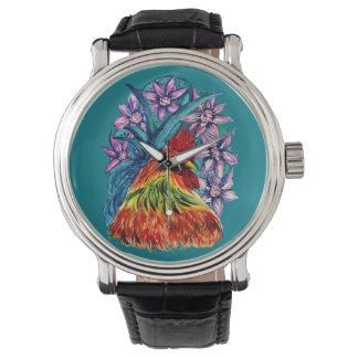Jahr der Hahn-Uhr Armbanduhr