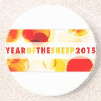 Jahr der Schafe 2015 (bokeh) Getränkeuntersetzer