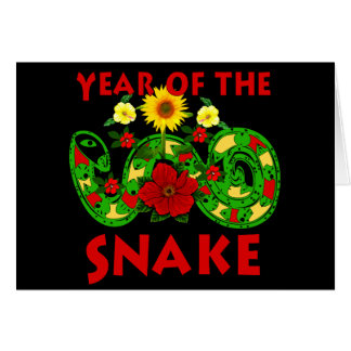 Jahr der Schlange Karte