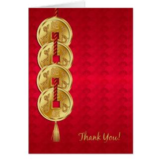 Jahr der Schlange, Neujahrsfest-Geschäft danken Karte