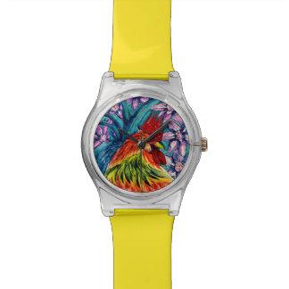 Jahr der Uhr der Hahn-Wasserfarbe-May28th