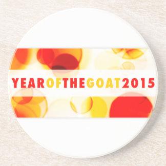 Jahr der Ziege 2015 (bokeh) Getränkeuntersetzer