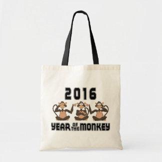 Jahr des Affen 2016 Budget Stoffbeutel