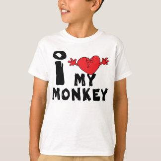 """Jahr des Affen """"ich Liebe mein Affe """" T-Shirt"""