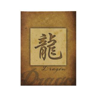 Jahr des Dragon_Chinese Tierkreises Holzposter