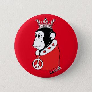 Jahr des friedlichen und liebevollen Affe-Königs Runder Button 5,1 Cm