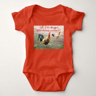 Jahr des Hahn-Bodysuits Baby Strampler