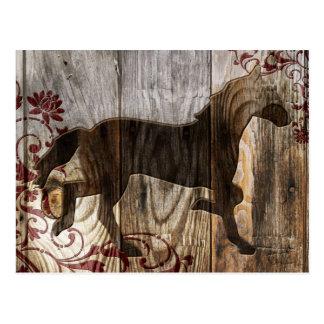 Jahr des hölzernen Pferds Postkarte