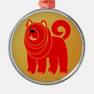 Jahr des Hundes Silbernes Ornament