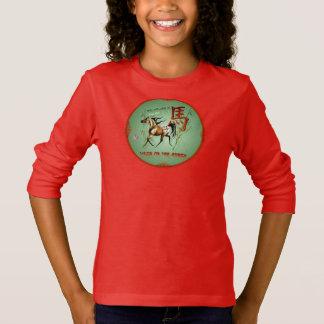 Jahr des Pferd-2014-Wood Pferd-Kreises T-Shirt