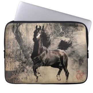 Jahr des Pferds 2014 - Malerei-Kunst Laptop Schutzhüllen