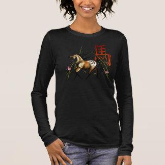 Jahr des Pferds Langarm T-Shirt