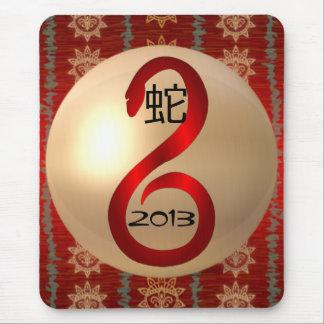 Jahr des Schlange mousepad 2013