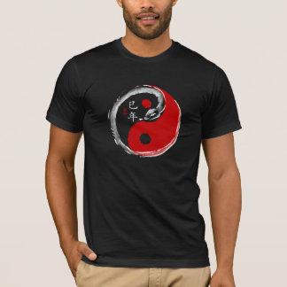 Jahr des Schlangen-Dunkelheits-T - Shirt