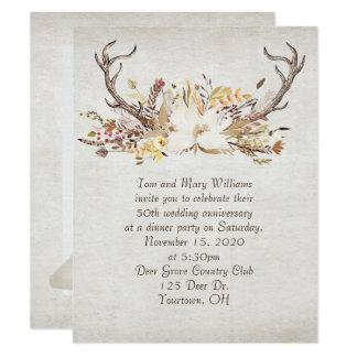 Jahrestag Abendessenherbst Blumenstrauß- und Karte