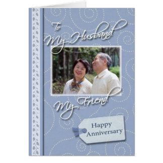 Jahrestag, Ehemann - Fotokartenschablone Karte