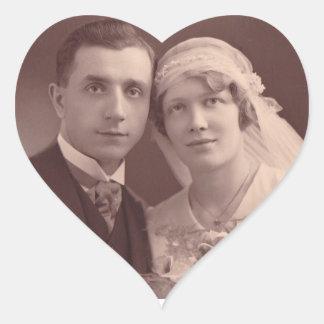 Jahrestags-Aufkleber-Hochzeits-Foto-Herz-Aufkleber Herz-Aufkleber