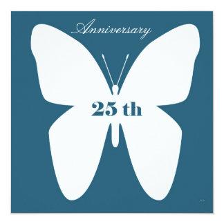 Jahrestags-Einladung 25. Quadratische 13,3 Cm Einladungskarte