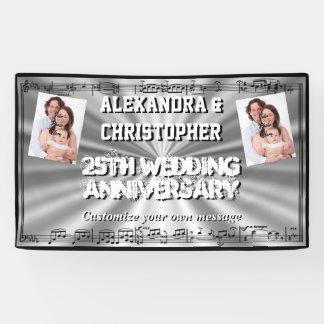 Jahrestags-Gewohnheits-Foto der silbernen Hochzeit Banner