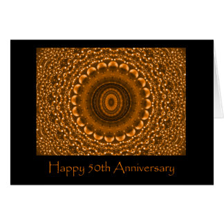 Jahrestags-Karte des Gold50. Grußkarte