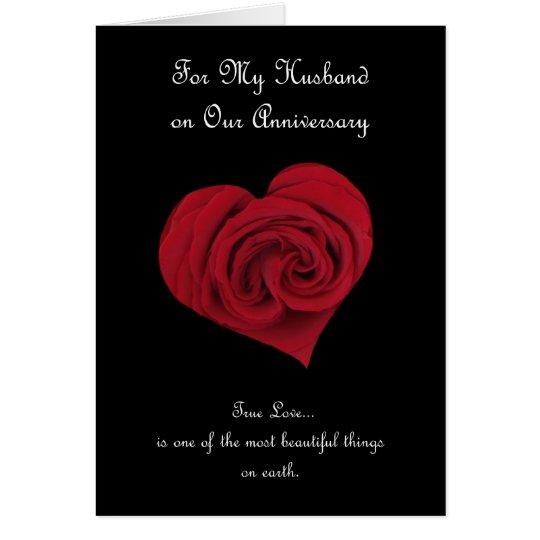 Jahrestags-Karte für Ehemann Grußkarte