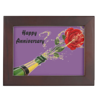 Jahrestags-Rosen-Feier lila Erinnerungsdose