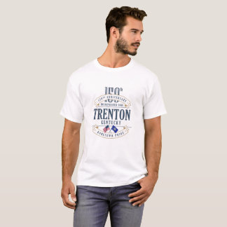 Jahrestags-Weiß-T - Shirt Trentons, Kentucky 150.