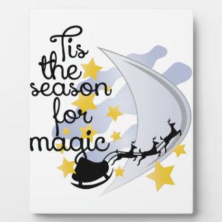 Jahreszeit für Magie Fotoplatte