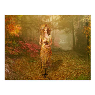 Jahreszeit-Reihen-Herbst-Postkarte Postkarte