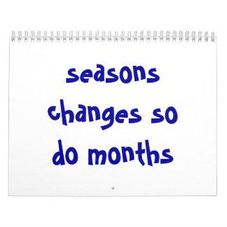 Jahreszeitänderungen tun so Monate Abreißkalender