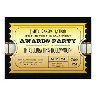Jährlicher Film spricht Party goldene Karte zu 12,7 X 17,8 Cm Einladungskarte