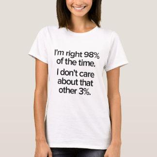 J'ai 98% ans droit du temps t-shirt