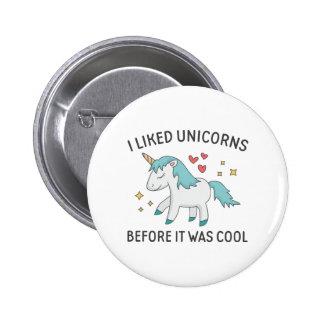 J'ai aimé des licornes badge rond 5 cm