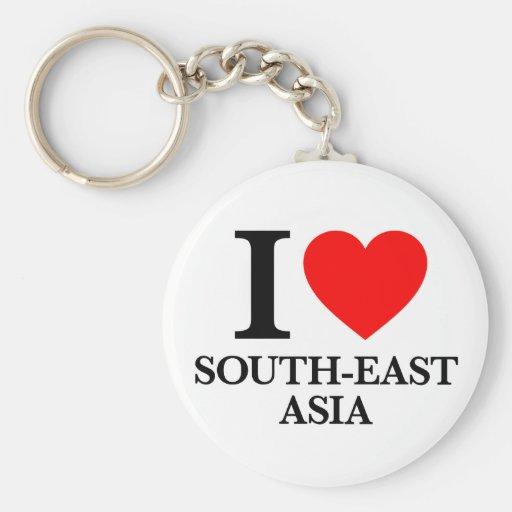 J'aime Asie du Sud-Est Porte-clef
