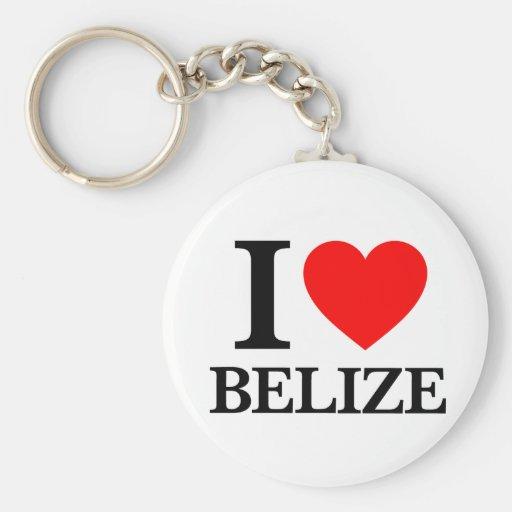 J'aime Belize Porte-clefs