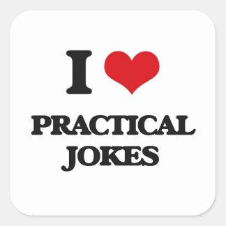 J'aime des blagues sticker carré