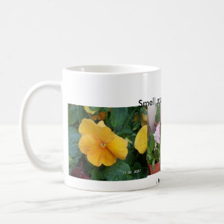 J'aime des fleurs mug blanc