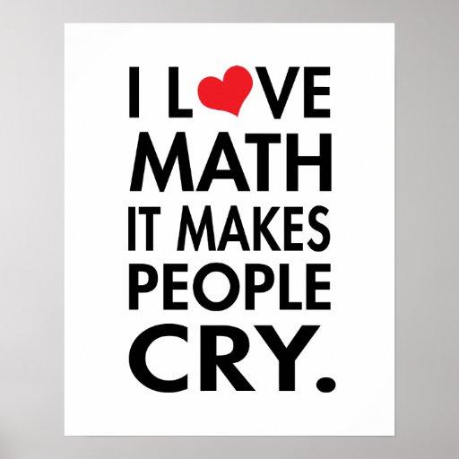 J'aime des maths, il incite des personnes à pleure