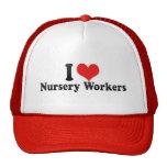 J'aime des travailleurs de crèche casquette de camionneur