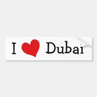 J'aime Dubaï Adhésif Pour Voiture