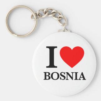 J'aime la Bosnie Porte-clé Rond